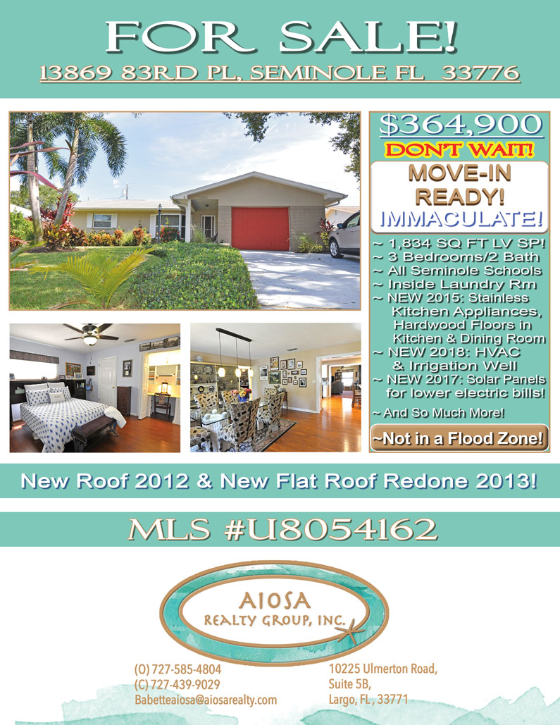 13869 83rd PL Seminole, FL-Aiosa Realty Group