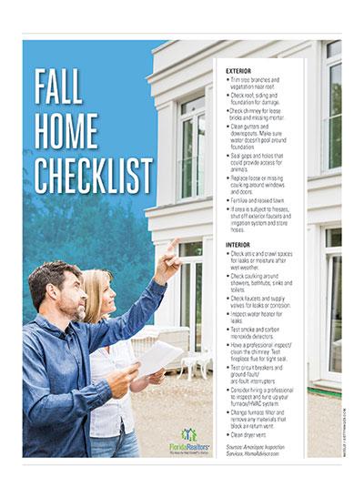 Interior/Exterior Fall Home Checklist pdf