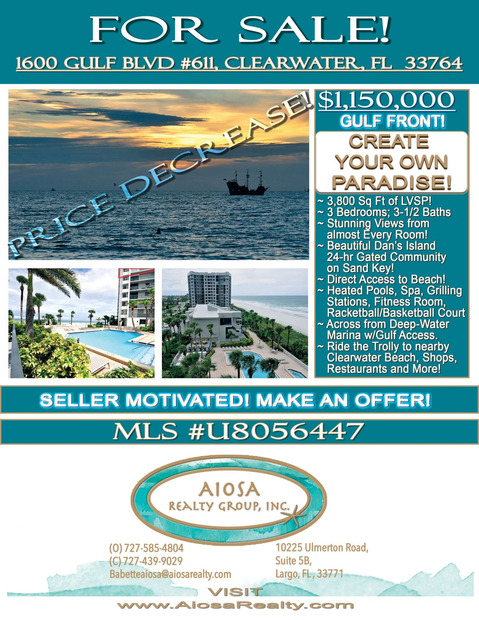 1600 Gulf Blvd Price Decrease image for Aiosa Realty Group
