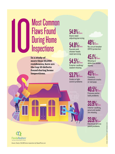 Ten common House Flaws - Home Inspection Infographic