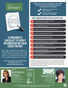 Consumer Checklist of Tips for verifying information on Credit Report