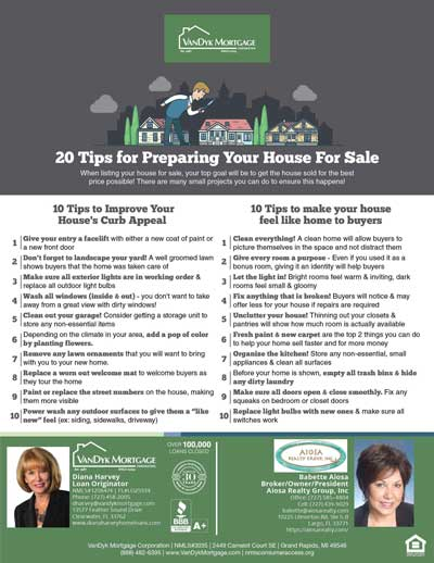 tips for preparing house for sale