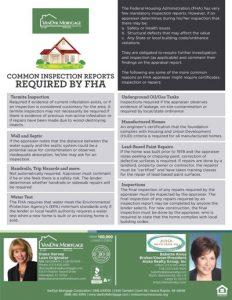 FHA Mandatory Common Inspection Reports