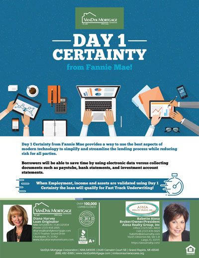 Day 1 Certainty From Fannie Mae for Fast Tracking of Loan