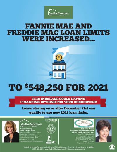 Fannie Mae & Freddie Mac Increased Loan Limits