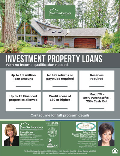 Investment Properties Loan Information