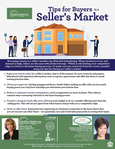 Tips For Home Buyers in Seller's Market
