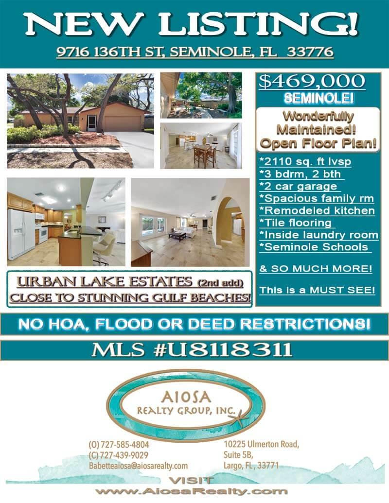 136th St Seminole Home image