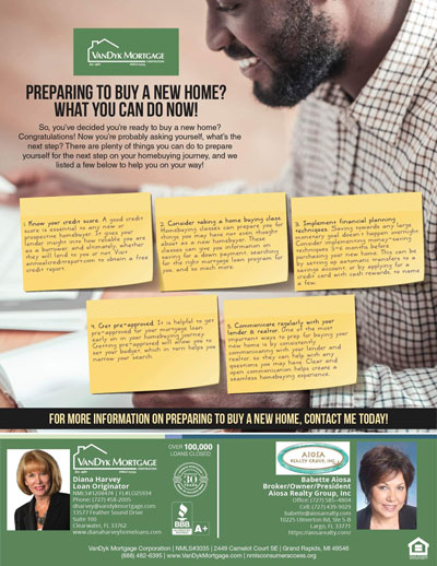 Preparing to buy a New Home